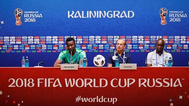 Хорватия и Нигерия готовятся к матчу (видео)