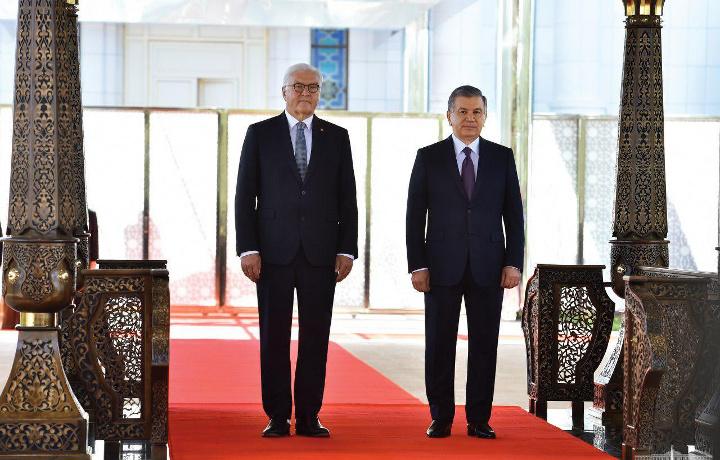 Germaniya prezidenti tashrifining asosiy tadbirlari boshlandi