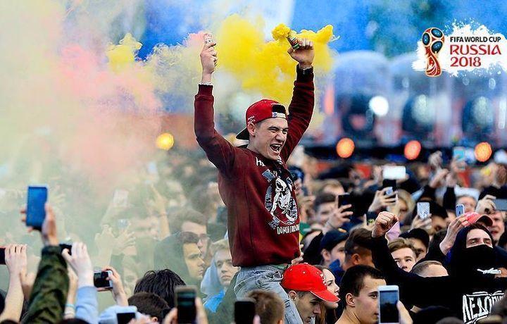 Праздник футбола на улицах Москвы