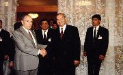 Islom Karimov va Fransua Mitteran uchrashuvi.