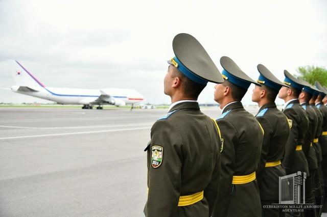 Koreya Respublikasi Prezidenti Samarqandga jo'nab ketdi