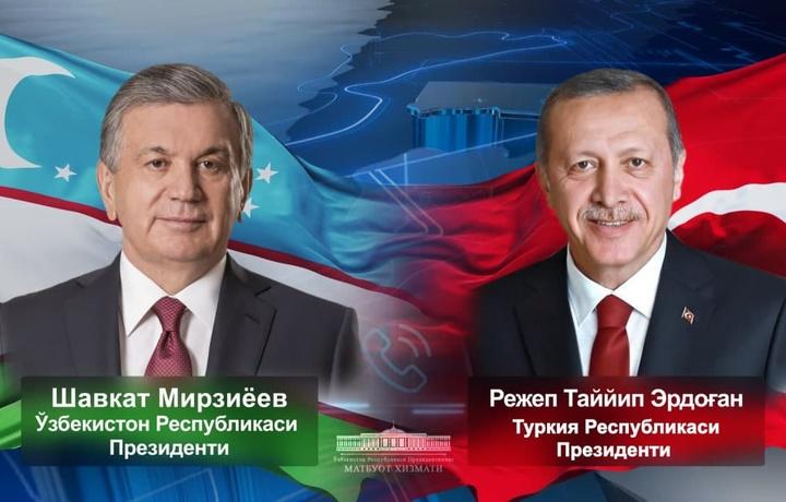 Shavkat Mirziyoyev Turkiya rahbarini tabrikladi