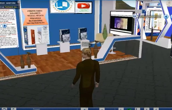 ТАТУ докторанти Тошкент 2-халқаро китоб кўргазма-ярмаркасининг виртуал 3D муҳитини яратди