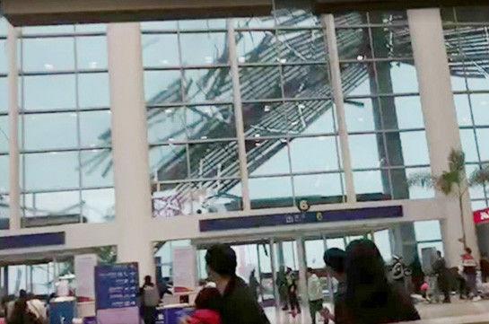 Кучли шамол Хитойдаги аэропорт шифтини қўпориб ташлади (видео)