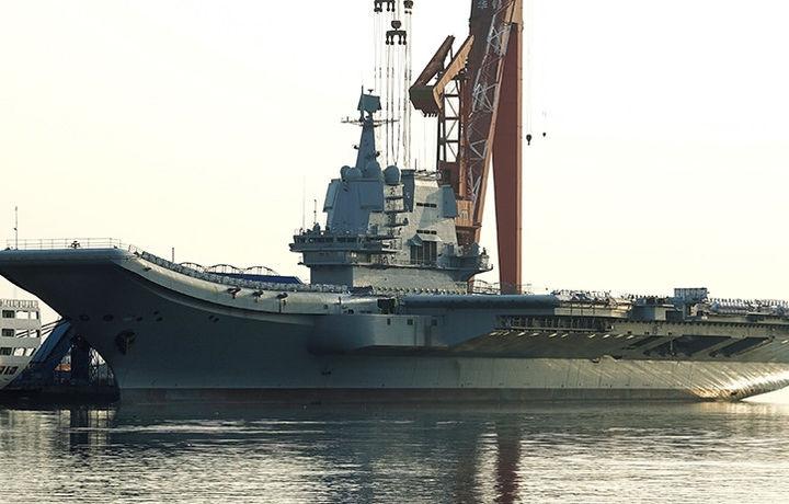 Китайский авианосец успешно прошёл тестовое плавание