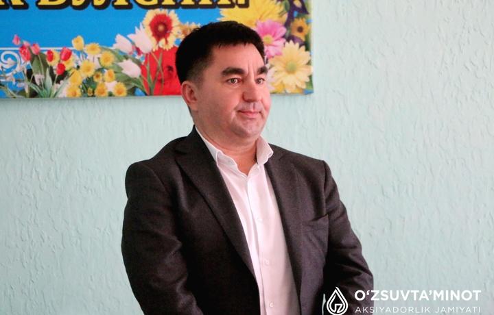 «Тошкент сув таъминоти» МЧЖга янги директор тайинланди