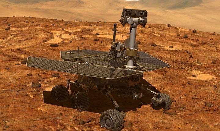 Пыльная буря охватила весь Марс
