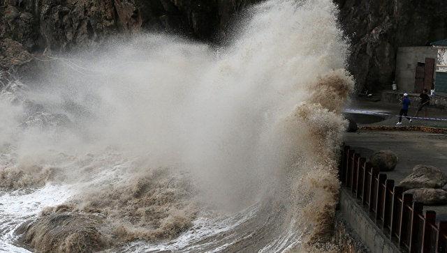 Тайфун «Прапирун» привел к первым жертвам в Японии и Южной Кореи