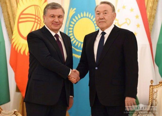 Шавкат Мирзиёв направил телеграмму ко дню рождению Нурсултана Назарбаева