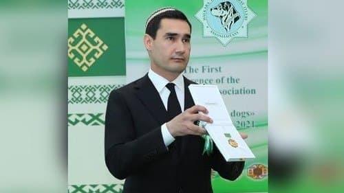 Гурбангулы Бердымухамедов наградил своего сына званием «Заслуженного собаковода страны»