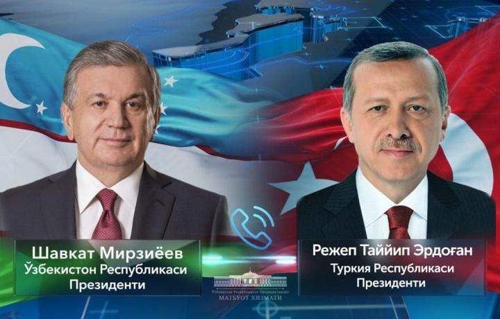 Shavkat Mirziyoyev va Rejep Tayyip Erdog'an telefonda muloqot qildi