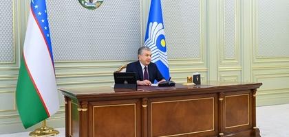 Shavkat Mirziyoyev MDH davlat rahbarlari bilan muloqot qildi