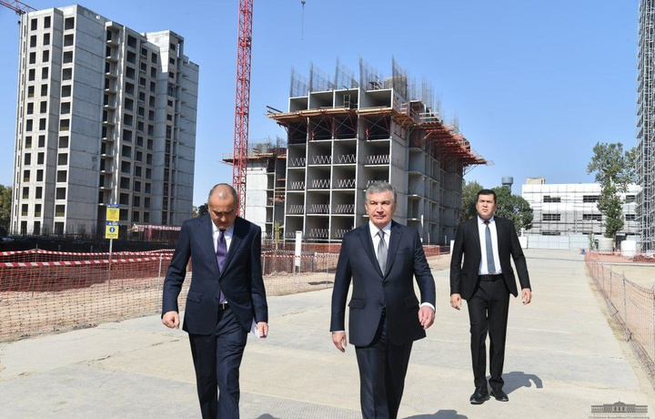 Президент «Olmazor business city»ни бориб кўрди (фото)