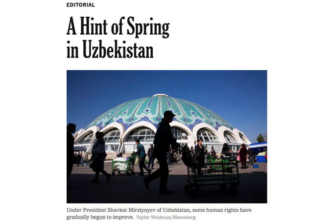 «The New York Times»: «Шавкат Мирзиёев кутилмаганда бутунлай бошқа ва ҳозирча яхши йўлни танлади»