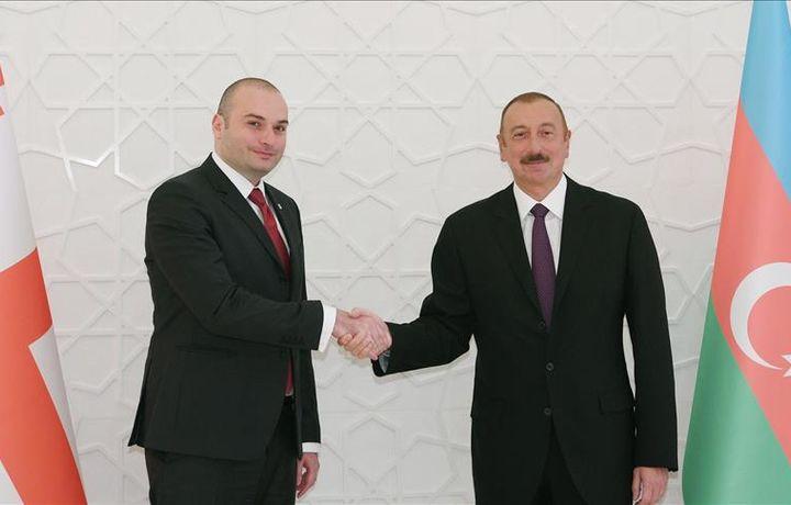 Ильхам Алиев встретился с премьер-министром Грузии