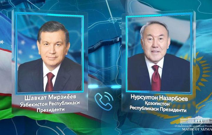 Шавкат Мирзиёев Нурсултон Назарбоев билан телефон орқали мулоқот қилди