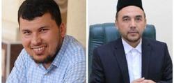 Блогер Мусанниф Адҳам (чапда) ва «Вақф» фонди раиси И.Халилов (ўнгда)