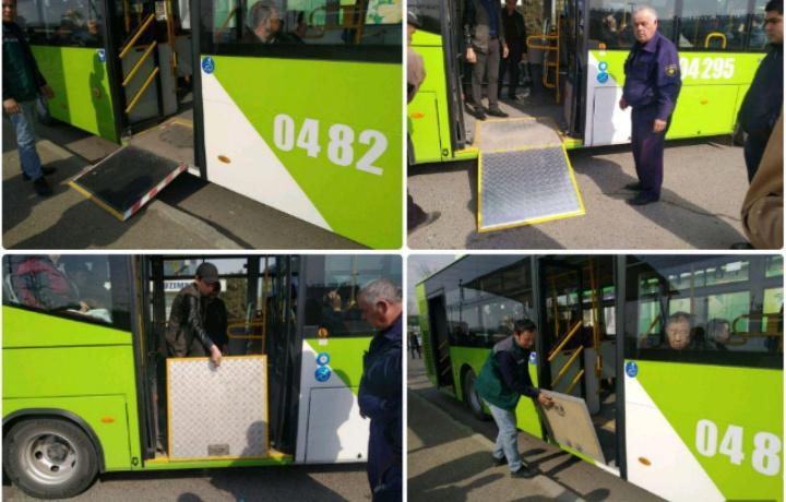 Водителей ташкентских автобусов не оказавшим помощь инвалиду наказали исправительными работами