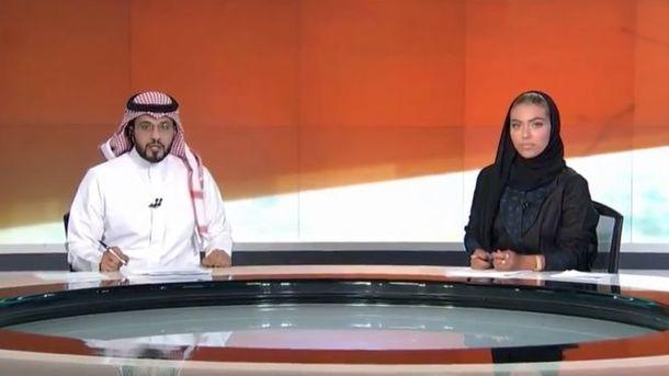 Саудияда тарихий воқеа: давлат телеканалида илк аёл бошловчи пайдо бўлди