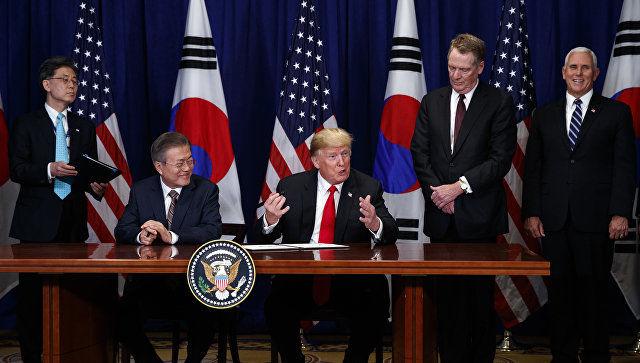 Жанубий Корея президенти Трампга Кимнинг мактубини етказди