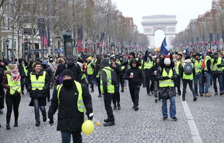 Во Франции запретили акцию «желтых жилетов»