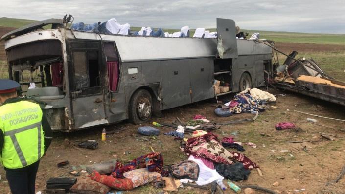 Qozog'istondagi avtobus halokatida jarohat olganlar ro'yxati