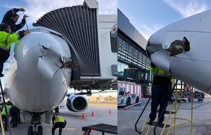 Мексикада самолёт ва дрон тўқнашди