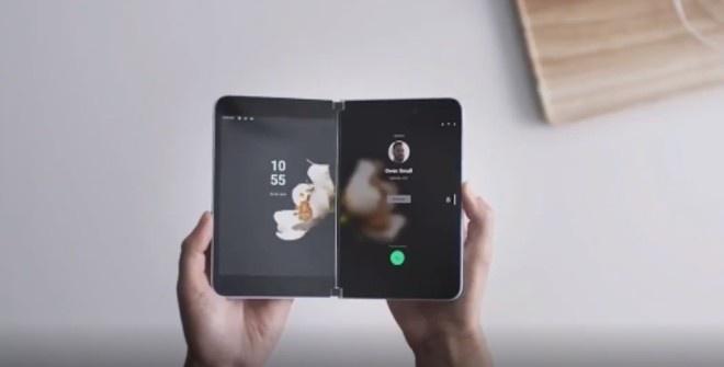 Microsoft представила смартфон с двумя экранами (видео)