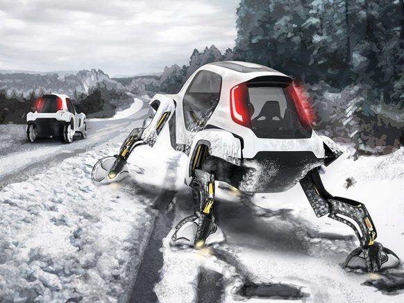 Hyundai предлагает добавить автомобилям ноги в концепте Elevate (видео)