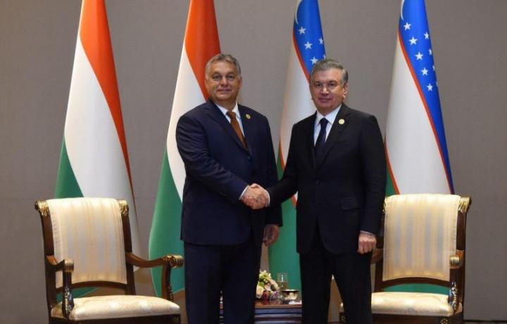 Шавкат Мирзиёев Венгрия Бош вазири Виктор Орбанни қабул қилди