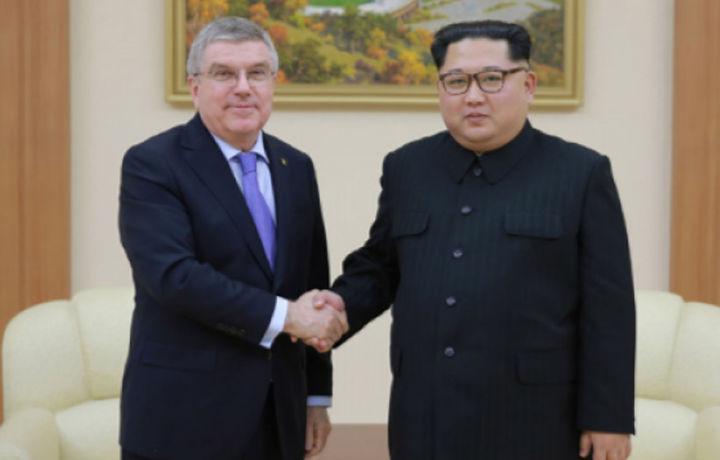 Ким Чен Ин Халқаро олимпия қўмитаси раиси билан учрашди