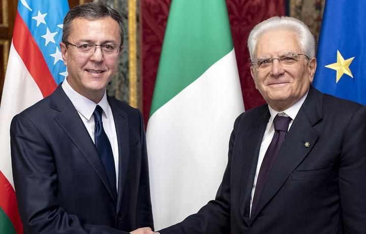 Ўзбекистон элчиси Италия президенти билан учрашди