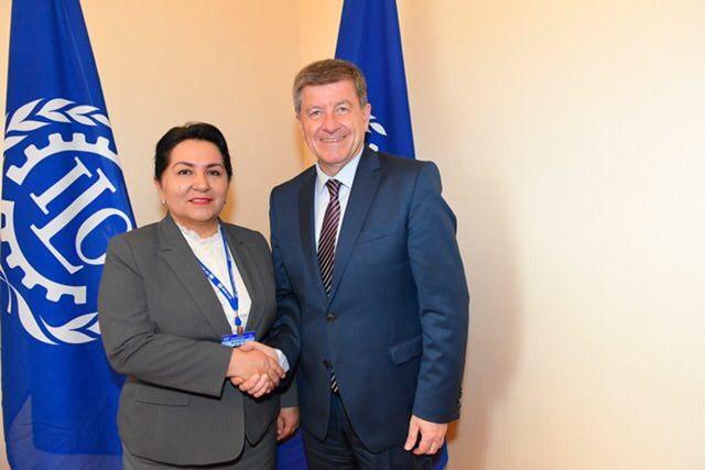 Заместитель премьер-министра встретилась с главой Международной Организации Труда