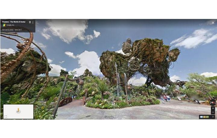 «Google Street View» орқали Диснейлендда сайр қилиш имконияти пайдо бўлди