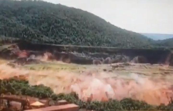 Момент прорыва дамбы в Бразилии попал на видео (видео)