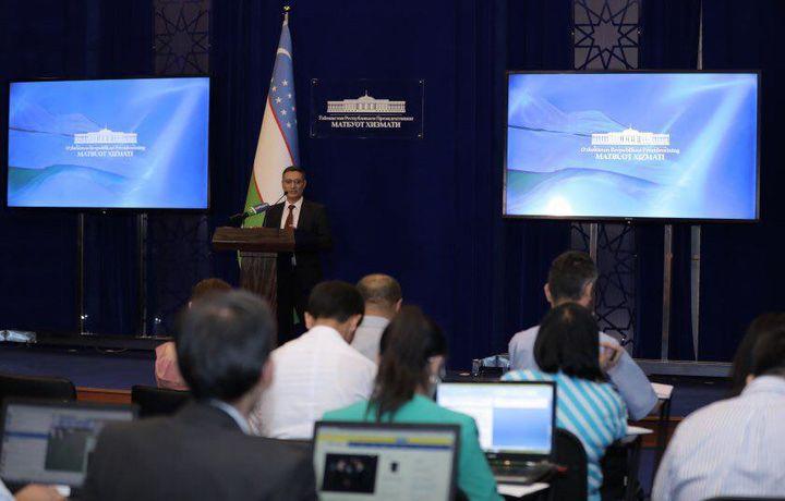 Президентлар учрашувини ёритиш учун матбуот маркази иш олиб бормоқда (фото)