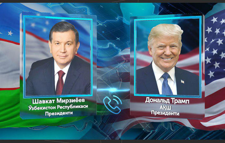 Мирзиёев ва Трамп: телефон орқали маълум қилинган мақсадлар амалий муҳокама этилди