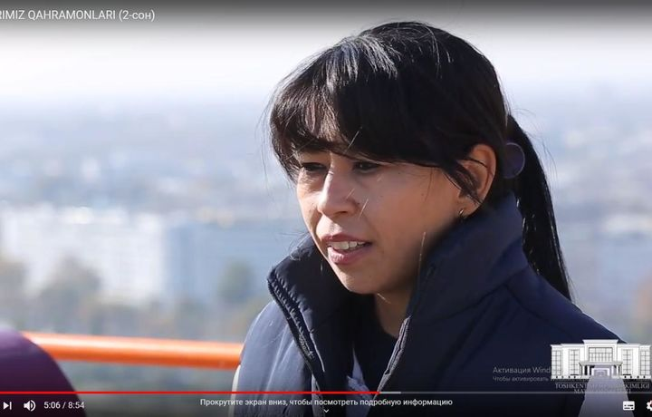 «Toshkent city»да 90 метр баландликдан туриб кран бошқараётган қизни биласизми ? (видео)