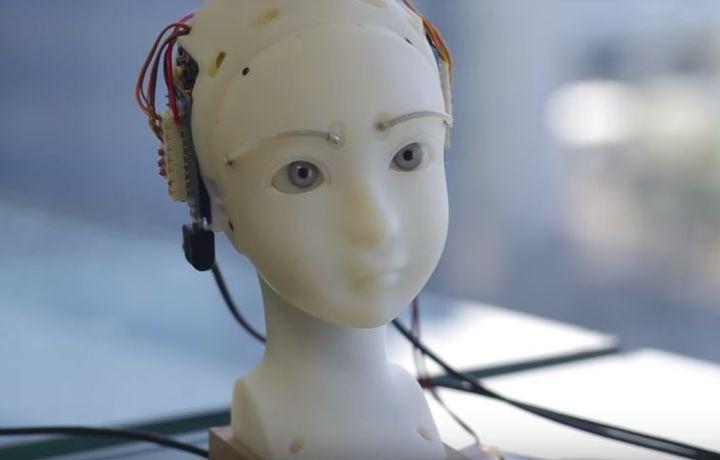 Японцы научили робота копировать мимику человека (видео)