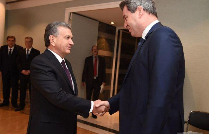 Shavkat Mirziyoyev Bavariya bosh vaziri bilan uchrashdi