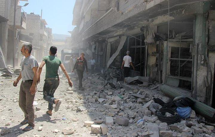 Авиудар по сирийскому Идлибу, 17 погибших