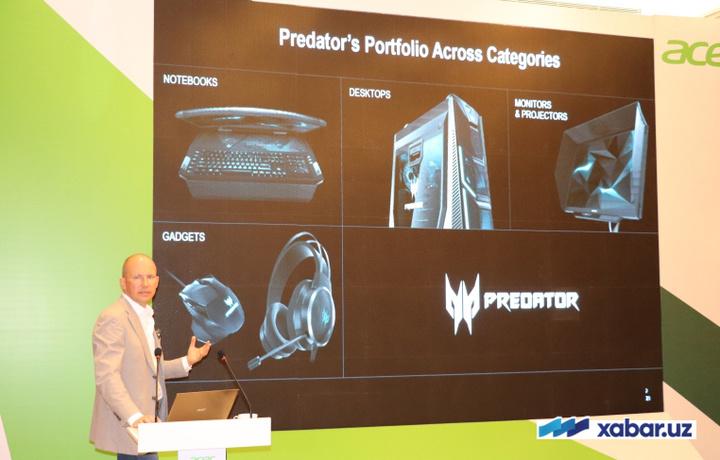 «Acer» Ўзбекистонда фаоллашмоқда: ультрабуклардан тортиб геймер қурилмаларигача (фото)