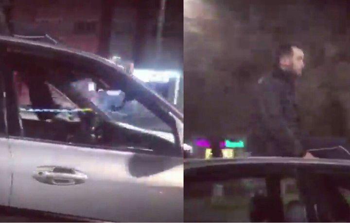 Toshkentda mashinani oyog'ida boshqargan «Shumaxer» jarimaga tortildi (video)
