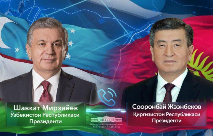 Шавкат Мирзиёев Қирғизистон Президенти билан гаплашди