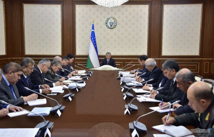 Шавкат Мирзиёев провел заседание Совета безопасности