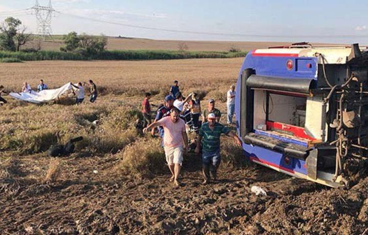 Количество жертв железнодорожной аварии в Турции достигло 24 (фото)