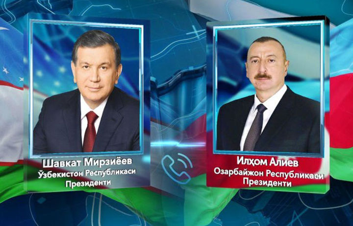 Шавкат Мирзиёев Озарбайжон Президентини Ўзбекистонга таклиф қилди