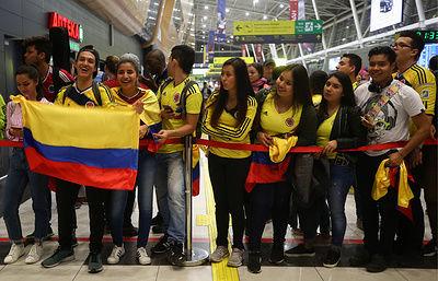 Сборная Колумбии прилетела в Россию на ЧМ-2018 по футболу