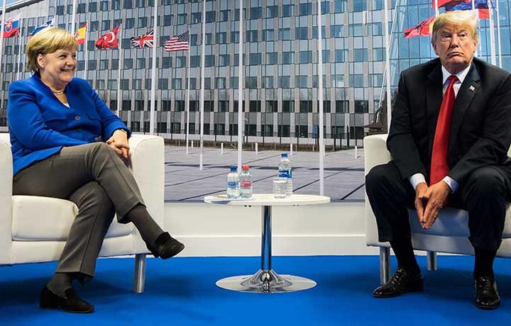 Трамп ждёт встречи с Меркель на G20