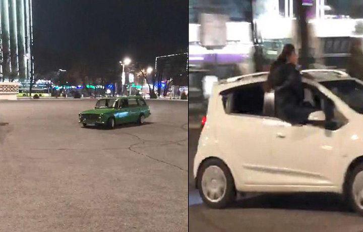 Тошкентда «тунги кўнгилочарлик»да қатнашган 14 та автомобиль жарима майдончасига жойлаштирилди (видео)